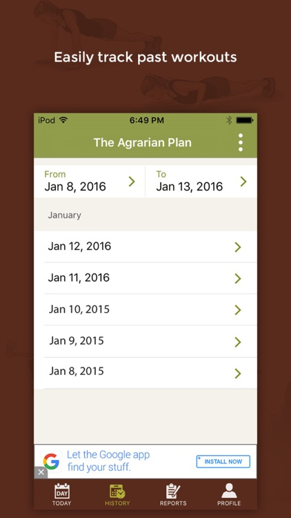 Agrarian Plan - Daily Exercise and Fitness Tracker