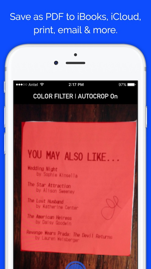 Easy Scanner - Scan documents to PDF in iBooks, email, print & more App 截图
