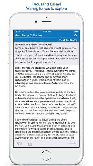 essay collection for toeflielts on the app store essay collection for toeflielts