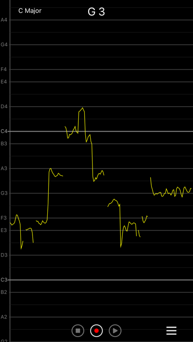 Vocal Pitch Monitor screenshot one