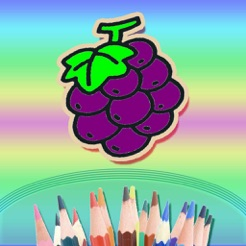 Kids Coloring Books - Kindergarten children Doodle & Draw fruits By Finger Painting