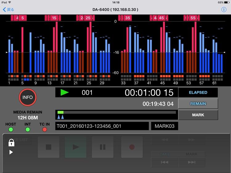 TASCAM DA-6400 Control screenshot-3