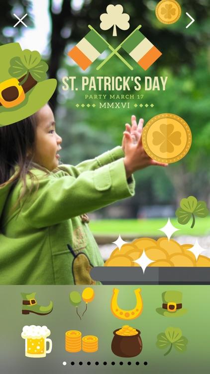 LuckLuckLuck - St Patricks Irish Pride Everyday FREE Photo Stickers