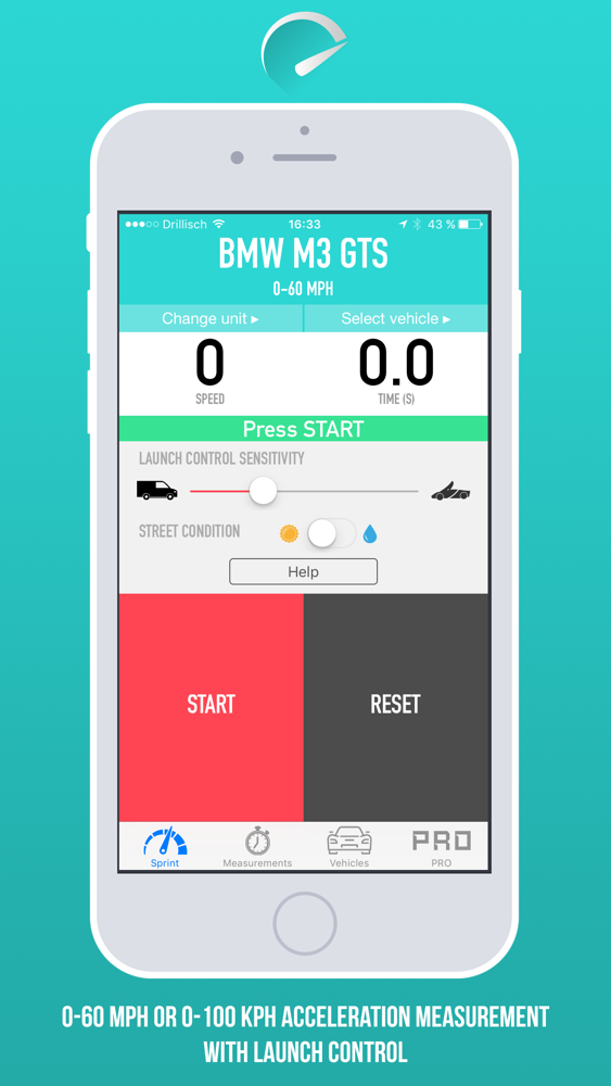 100 Kph To Mph >> Sprintbox 0 60 Mph And 0 100 Km H Acceleration Measurement App For
