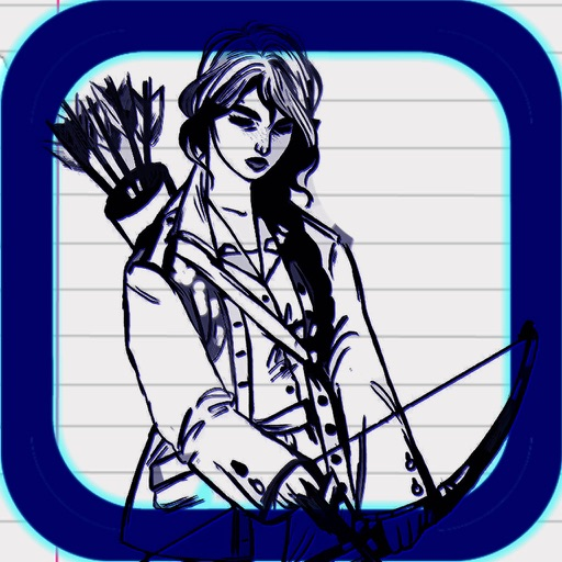 Draw Arrow Sketch - Super Fun Archery Game icon