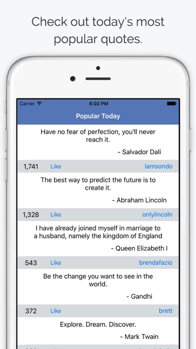 Quoter - Share & Read Quotes screenshot one