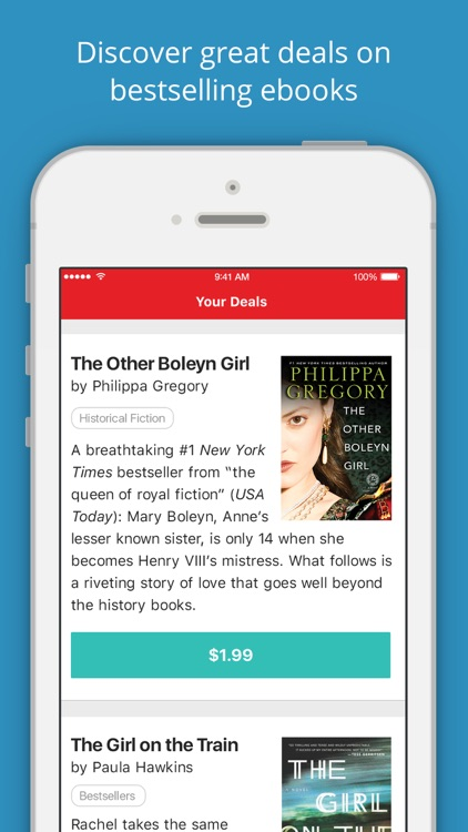 BookBub - Great Deals on Bestselling Ebooks screenshot-0