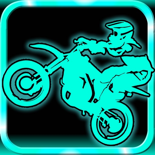 Racing in Neon Bike - Cyber Mountain Moto Race