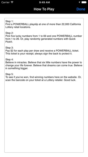 California Lotto & Powerball on the App Store