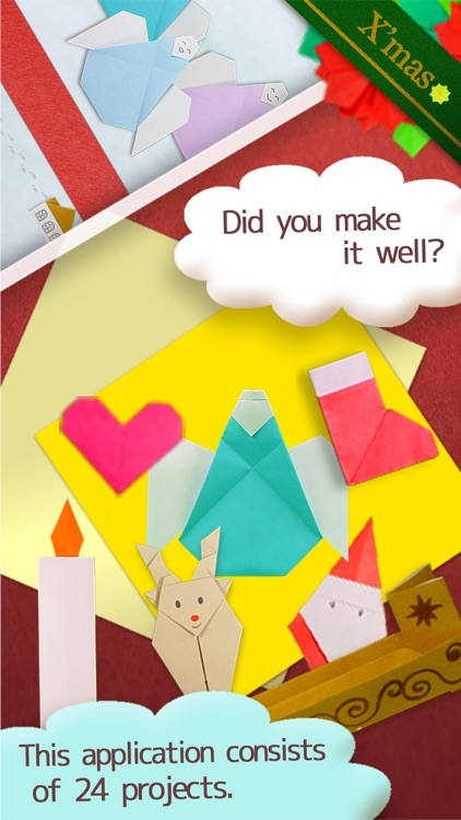 Christmas Origami Free for iPhone