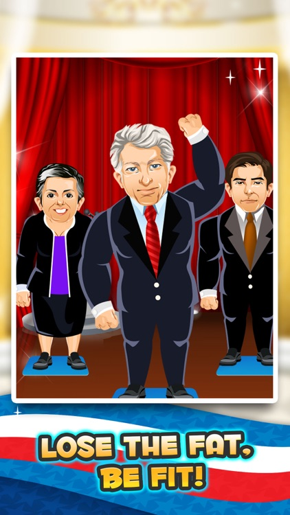 Election Fat to Fit Gym - fun run jump-ing on 2016 games with Bernie, the Donald Trump & Clinton! screenshot-3