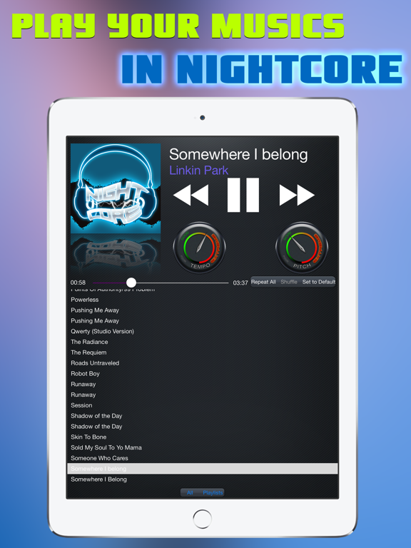 Nightcore Music Player - Music Speed Changer Mp3 Sound Player & Song  Playlist Manager | App Price Drops