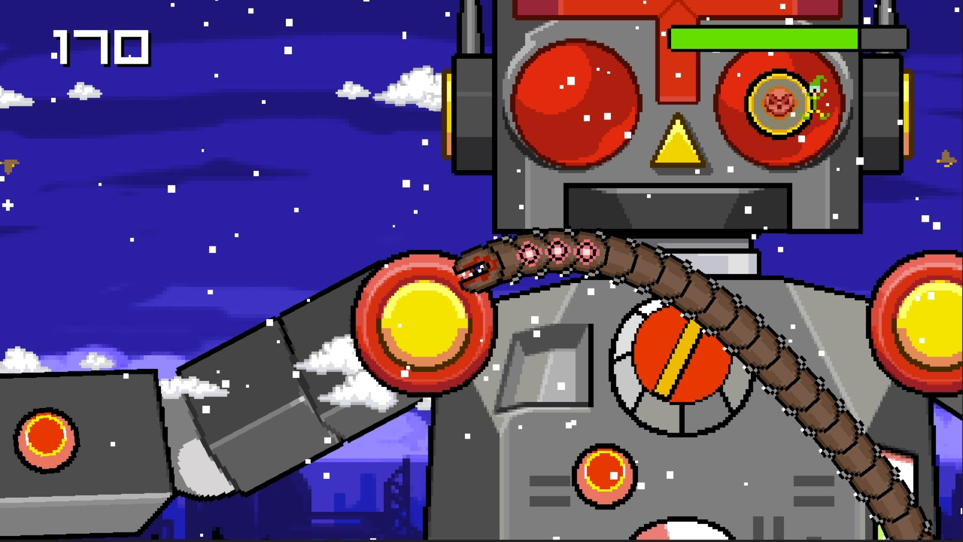 Super Mega Worm Vs Santa Saga screenshot 15