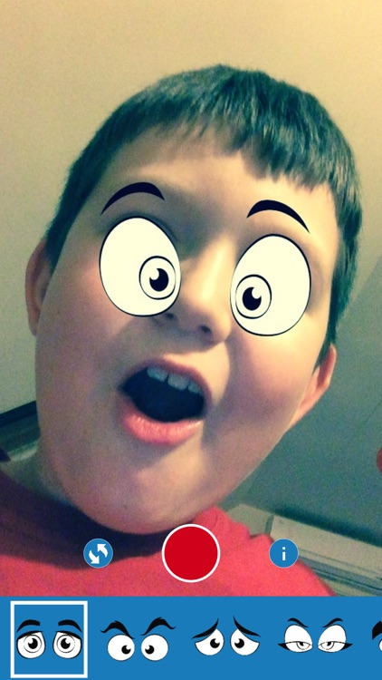 iEye - Funny Cartoon Eyes Camera screenshot-1