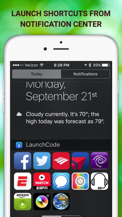 LaunchCode Shortcut with Notification Center & 3D Touch screenshot-1