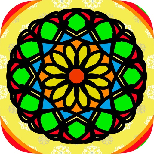 Coloring book Mandalas for adults – relax game of meditation