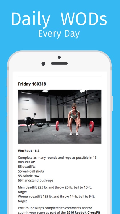 WOD Buddy: Workouts of the Day