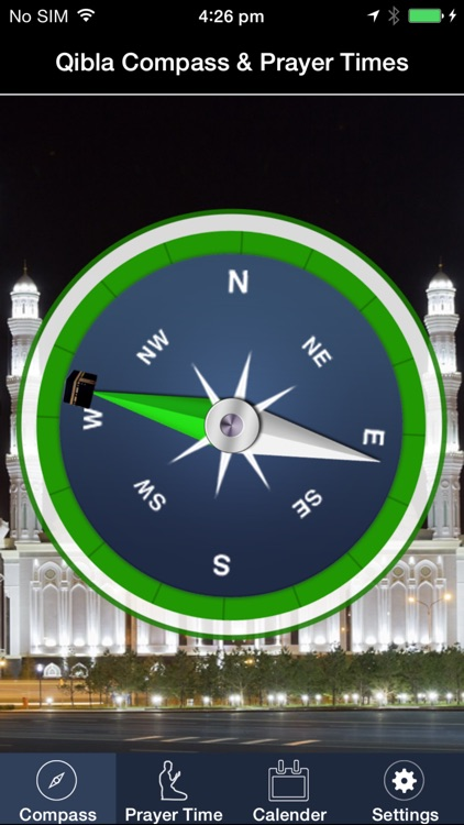Islamic Compass : Qibla Finder and Global Prayer Times
