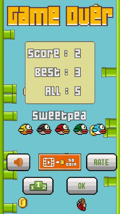 Hardest Flappy Bird-ie - Don't Touch The Pipes screenshot-4