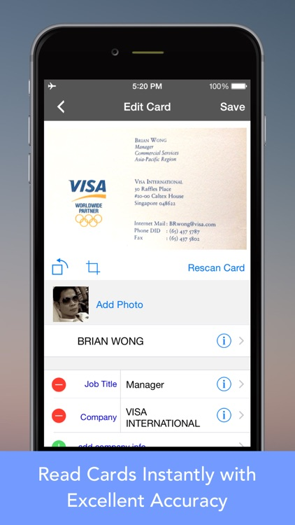 CardWiz Pro: Business Card Reader + Scanner