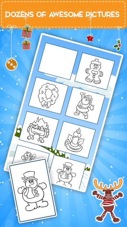 Winter coloring book for toddlers: Kids drawing, painting and doodling games for children screenshot-3
