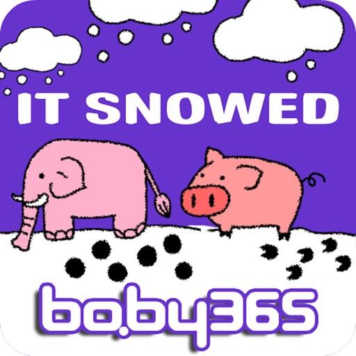 It snowed-baby365