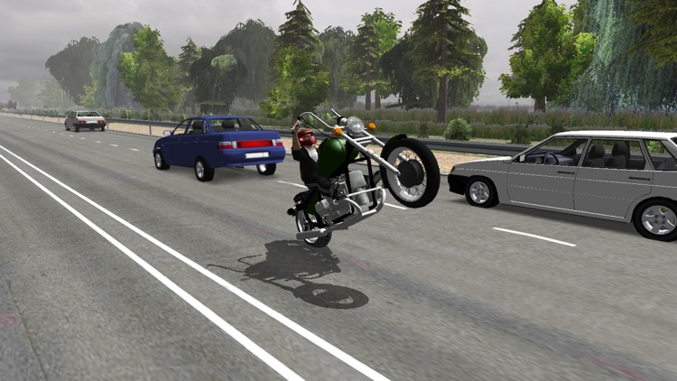 Russian Moto Traffic Rider 3D screenshot-4