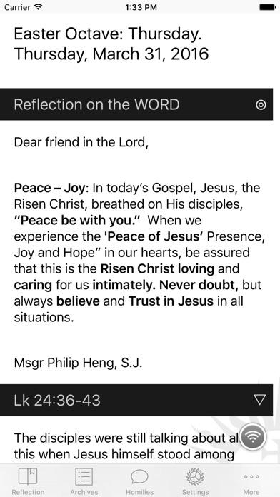 DGems: Daily Gospel Reflections by Msgr Philip Heng, S J  - AppRecs
