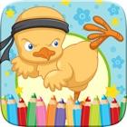 Pintainho pequeno livro para colorir Desenho e Pintura Art Studio jogo para crianças dia de Páscoa icon