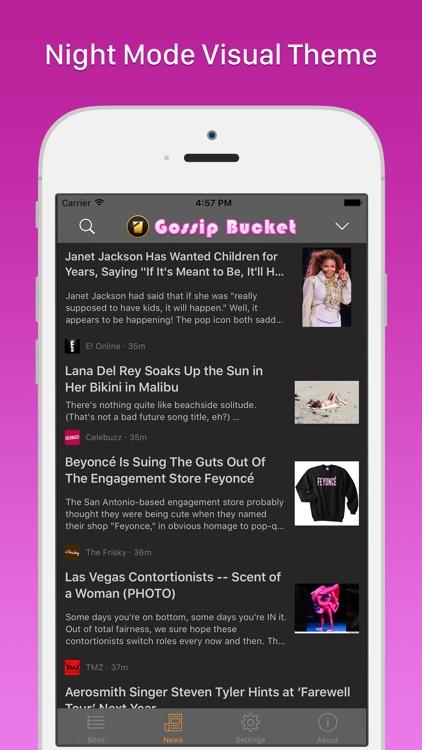 Gossip Bucket - Celebrity News Aggregator screenshot-3