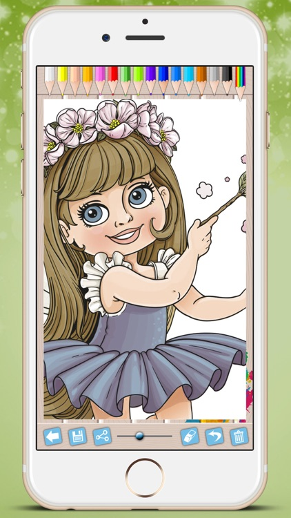 Fairies Coloring Book - Paint princesses tales