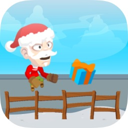Run Santa Run! - Santa Clauses Running For Gifts