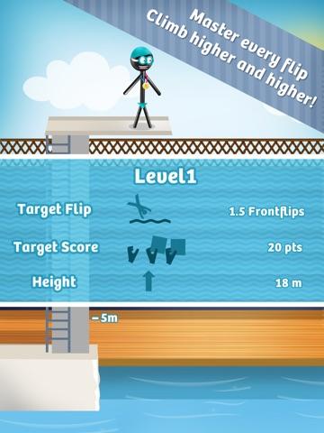 Stickman High Diving PRO - Touch, Jump & Flip! для iPad