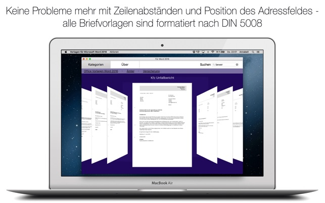 vorlagen f r microsoft word 2016 im mac app store. Black Bedroom Furniture Sets. Home Design Ideas