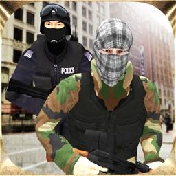 Las Vegas Police Officer Vs Bank Robbers 3D