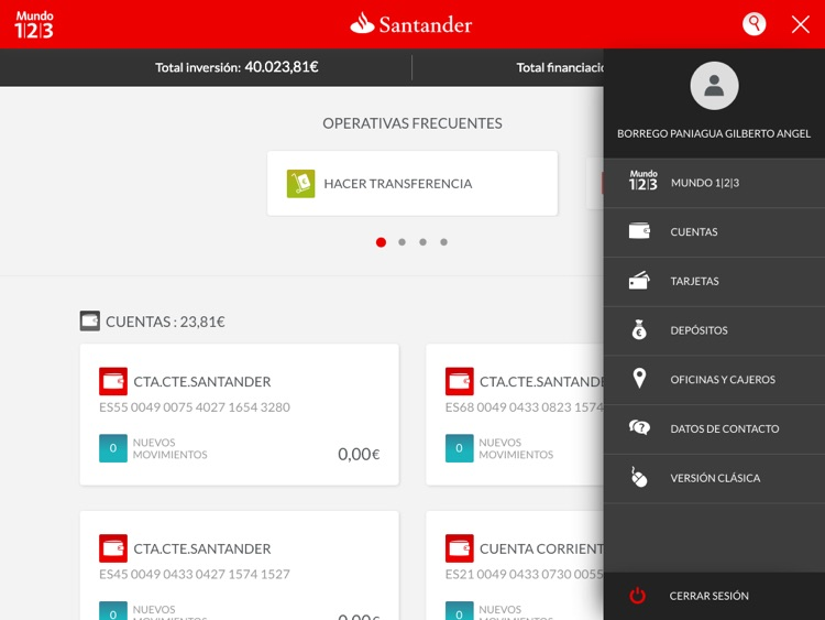 Santander Tablet screenshot-3