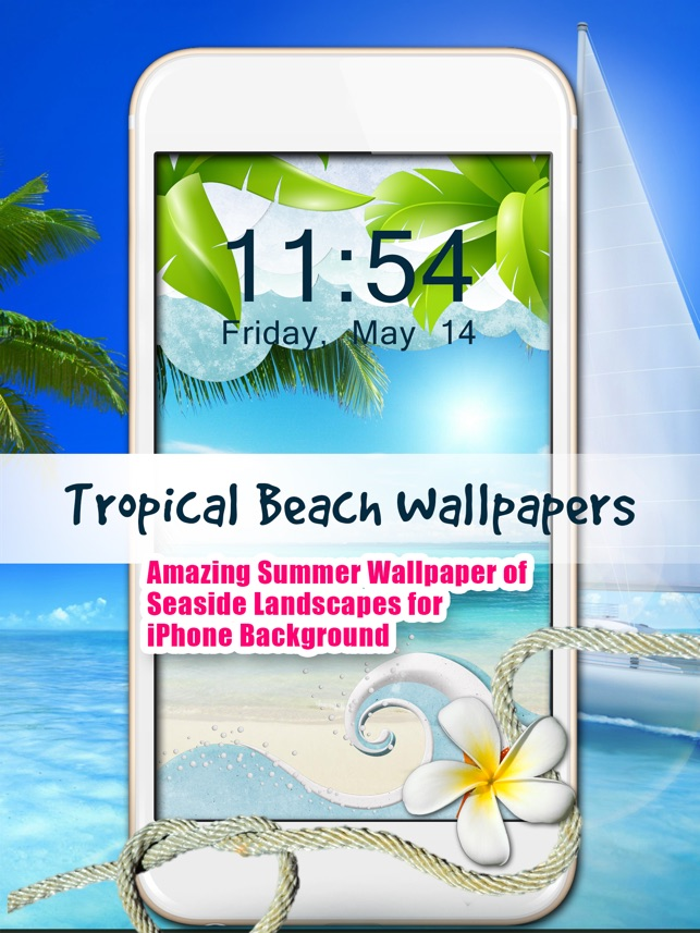 Tropical Beach Wallpapers Amazing Summer Wallpaper Of Seaside Landscapes For Iphone Background On The App Store