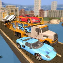 Car Transport Trailer Truck 3D