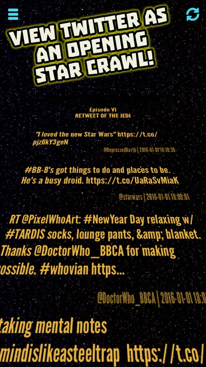 Tweet Wars - View Twitter as a Star Crawl!