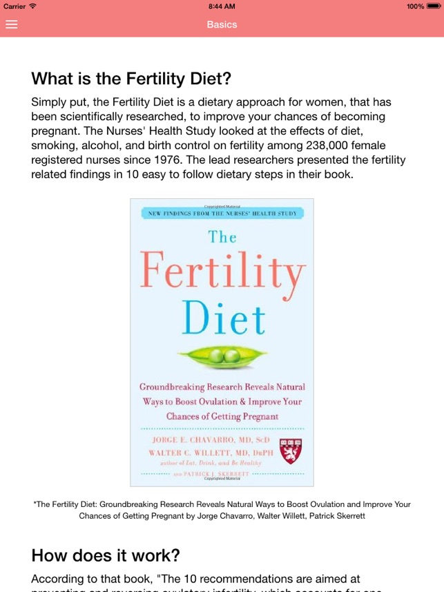Fertility Diet Guide on the App Store
