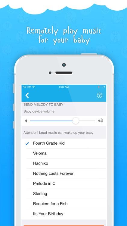 Ahgoo baby monitor - audio and video monitoring