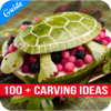 sathish bc - 100 + Carving Ideas - Tips for Carving Flowers from Vegetables  artwork