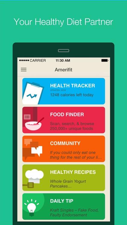 amerifit nutrition tracker by fooducate  ltd