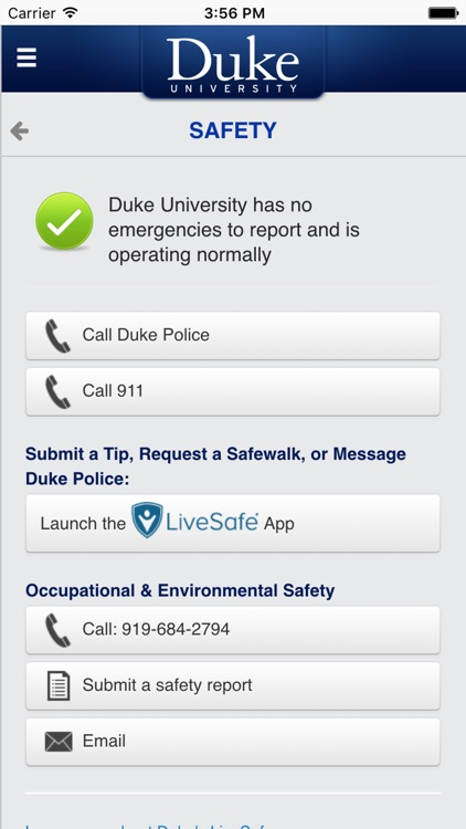 DukeMobile screenshot-4