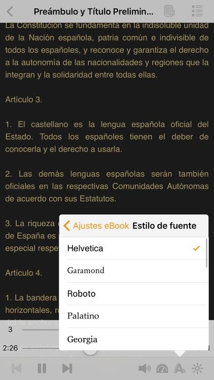 La Constitución Española en AudioEbook screenshot-4