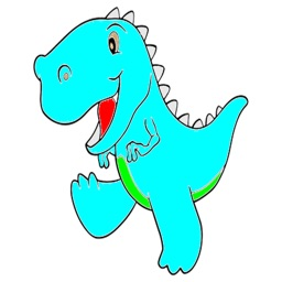 Kids Coloring Book - Cute Cartoon Dinosaur 1