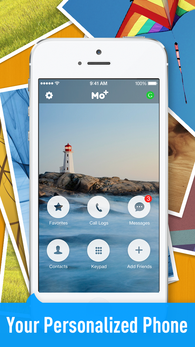 Free Calls & Text by Mo+, Free Local and International Phone Calling and Messaging App Screenshot
