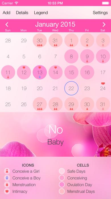 Ovulation Calculator & Fertility Tracker - Menstrual Calendar to Get Pregnant during Period Screenshot
