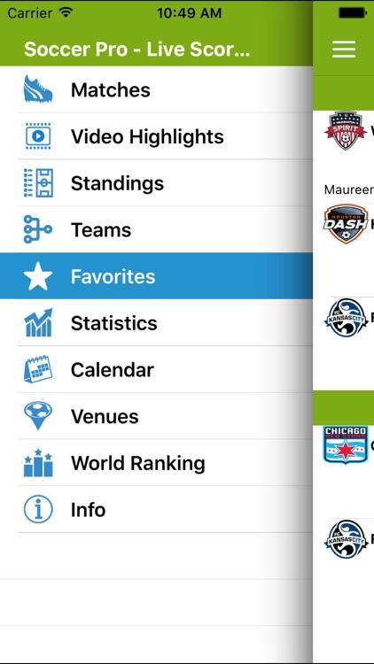 Soccer Pro-Live Scores-NWSL-US screenshot-4