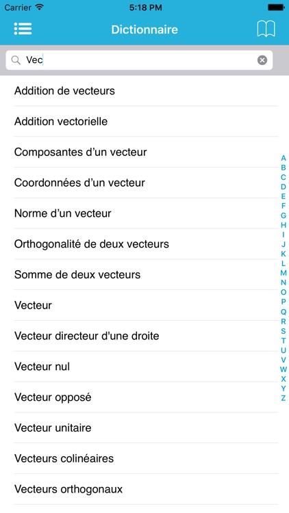 Dictionnaire de Maths